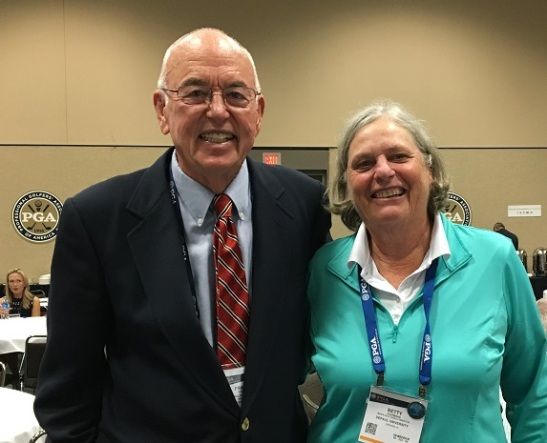 CPI Betty Kaufmann with CPI Founder Frank Thomas at the PGA Show in Orlando, FL
