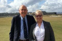 Shona Malcolm (PGA in Scotland) with Frank Thomas