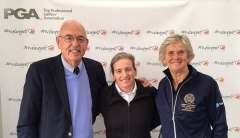 Denise Hastings (right) with Frankly Golf and CPI Founders Frank Thomas (left) and Valerie Melvin (center)